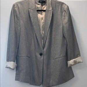 MNG grey with gold shimmer blazer